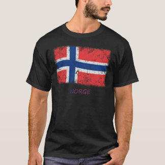 Grunge Norway Flag T-Shirt