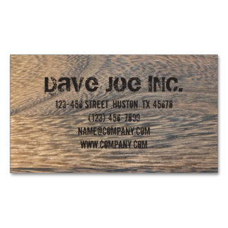 grunge oak wood grain Carpentry Construction Magnetic Business Card