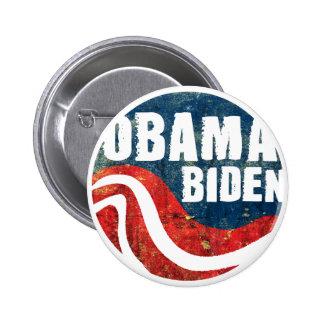 Grunge Obama Biden Button