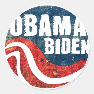 Grunge Obama Biden Sticker