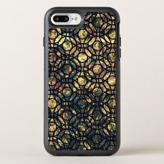 Grunge Oil and Water Olive Marbled Metallic Foil OtterBox Symmetry iPhone 8 Plus/7 Plus Case