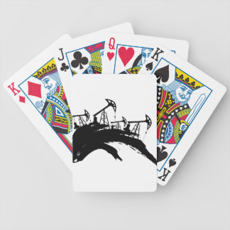 Grunge Oil Pump Bicycle Playing Cards