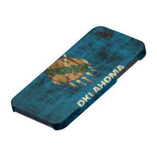 Grunge Oklahoma Flag Case For The iPhone 5