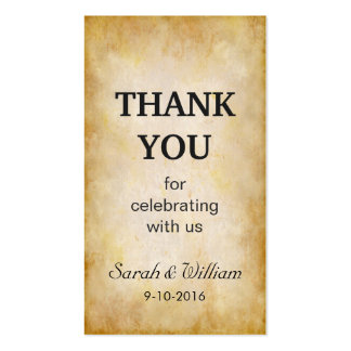 Grunge Old Paper - Simple Thank You Favor Tag Pack Of Standard Business Cards