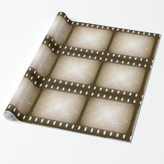 Grunge Old Scratched Film Wrapping Paper
