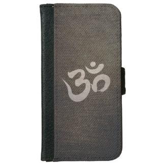 Grunge Om Symbol Yoga & Meditation iPhone 6 Wallet Case