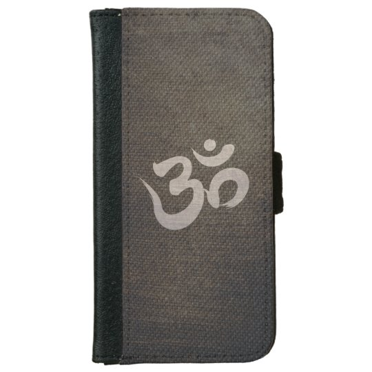 Grunge Om Symbol Yoga & Meditation iPhone 6 Wallet Case