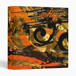 Grunge Paint Splat Swirls Binder