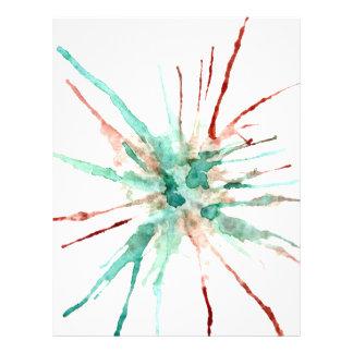 Grunge Paint Splatters green Letterhead