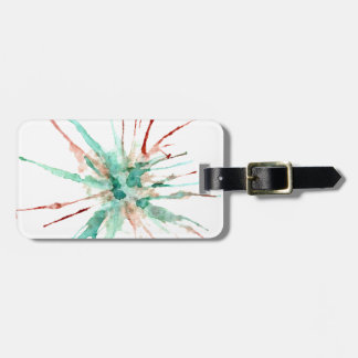 Grunge Paint Splatters green Luggage Tag