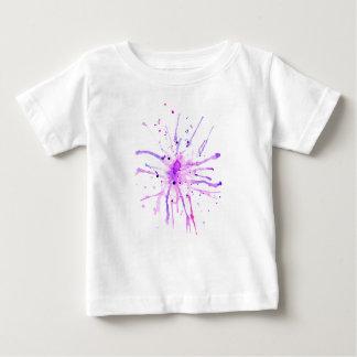 Grunge Paint Splatters purple Baby T-Shirt