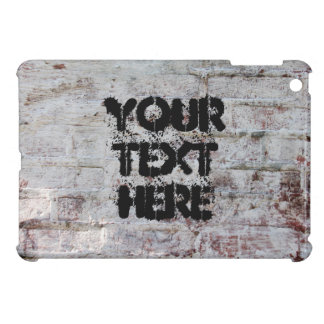 Grunge painted bricks background with sample text iPad mini cases