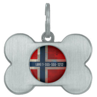 Grunge Painterly Theme Gifts Pet Tag