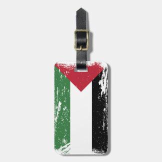 Grunge Palestine Flag Tag For Luggage