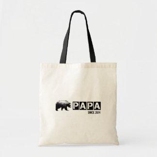 Grunge Papa Bear Since 2014, Black Tote Bags