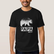 Grunge Papa Bear Since 2014, White T-shirt