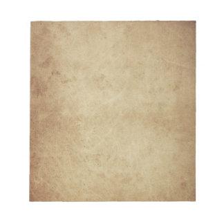 grunge parchment notepad