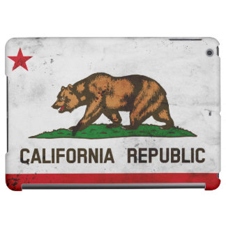 Grunge Patriotic California State Flag iPad Air Case