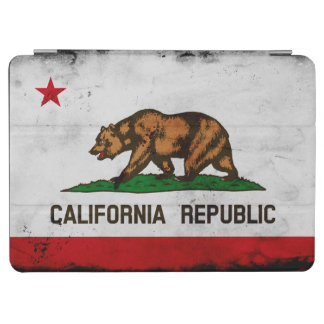 Grunge Patriotic California State Flag iPad Air Cover