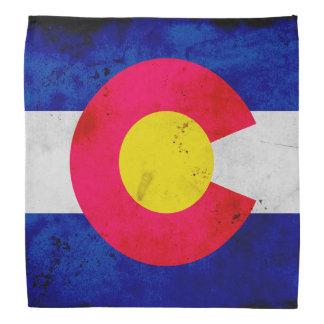 Grunge Patriotic Colorado State Flag Bandana