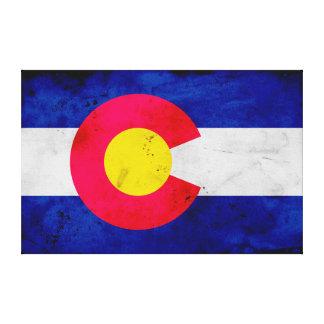 Grunge Patriotic Colorado State Flag Canvas Print