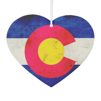 Grunge Patriotic Colorado State Flag Car Air Freshener