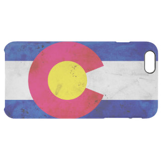 Grunge Patriotic Colorado State Flag Clear iPhone 6 Plus Case