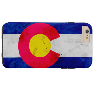 Grunge Patriotic Colorado State Flag Tough iPhone 6 Plus Case