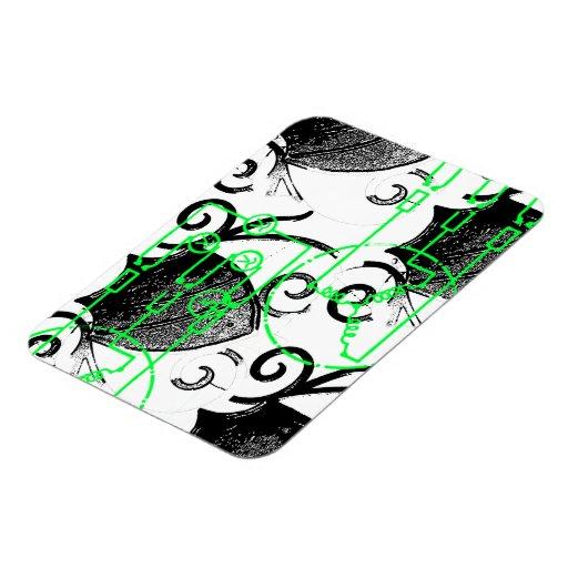 Grunge Pattern 131 Magnets