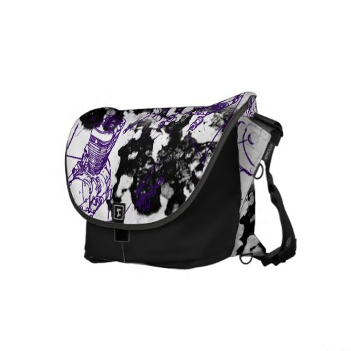 Grunge Pattern 207 Courier Bag