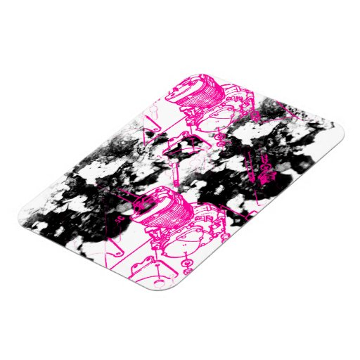 Grunge Pattern 219 Vinyl Magnet