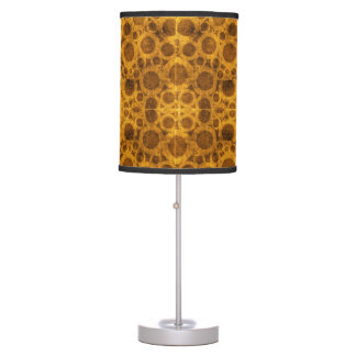 Grunge Pattern Steampunk Gold and Brown Lamp