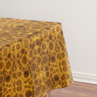 Grunge Pattern Steampunk Gold and Brown Tablecloth