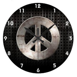 Grunge Peace Sign Wallclock