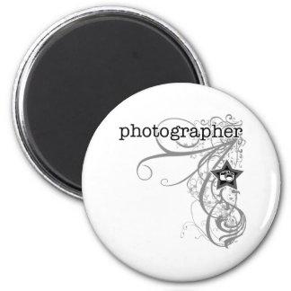 Grunge Photographer Refrigerator Magnet