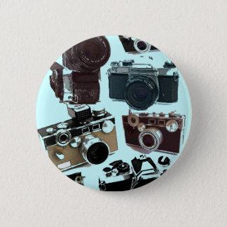 Grunge photographer photography Vintage Camera 2 Inch Round Button