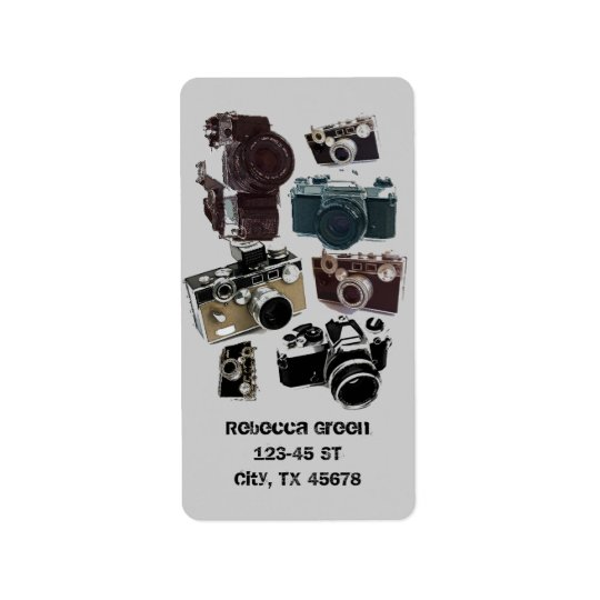 Grunge photographer photography Vintage Camera Label
