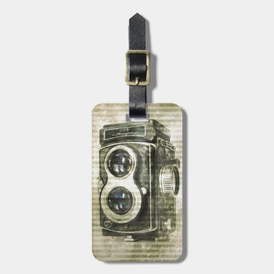 Grunge photographer photography Vintage Camera Luggage Tag