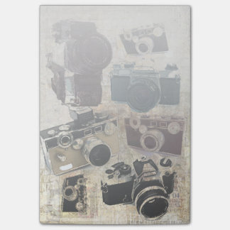 Grunge photographer photography Vintage Camera Post-it Notes