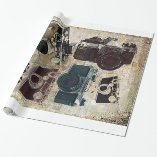 Grunge photographer photography Vintage Camera Wrapping Paper