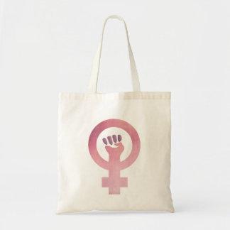 Grunge Pink Feminist Symbol Tote Bag