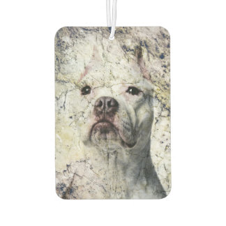 Grunge Pitbull terrier Air Freshener