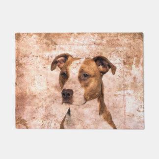 Grunge Pitbull terrier Doormat