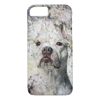 Grunge Pitbull terrier iPhone 8/7 Case