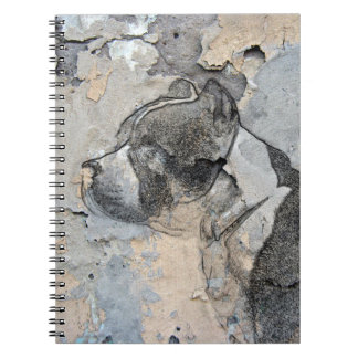 Grunge Pitbull terrier Spiral Notebook