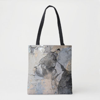 Grunge Pitbull terrier Tote Bag