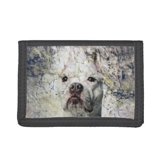 Grunge Pitbull terrier Tri-fold Wallets