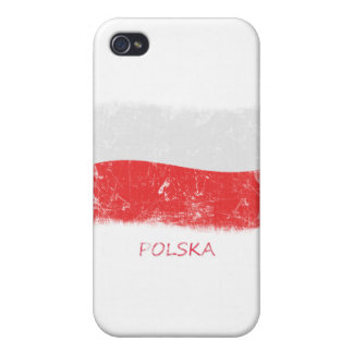 Grunge Poland Flag iPhone 4/4S Cases