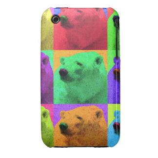 Grunge Pop Art Popart Polar Bear Closeup Colorful Case-Mate iPhone 3 Case
