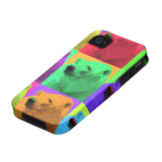 Grunge Pop Art Popart Polar Bear Closeup Colorful iPhone 4/4S Cases